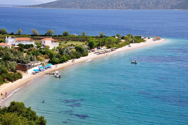 Agios Dimitrios beach in Alonissos island, Sporades, Greece